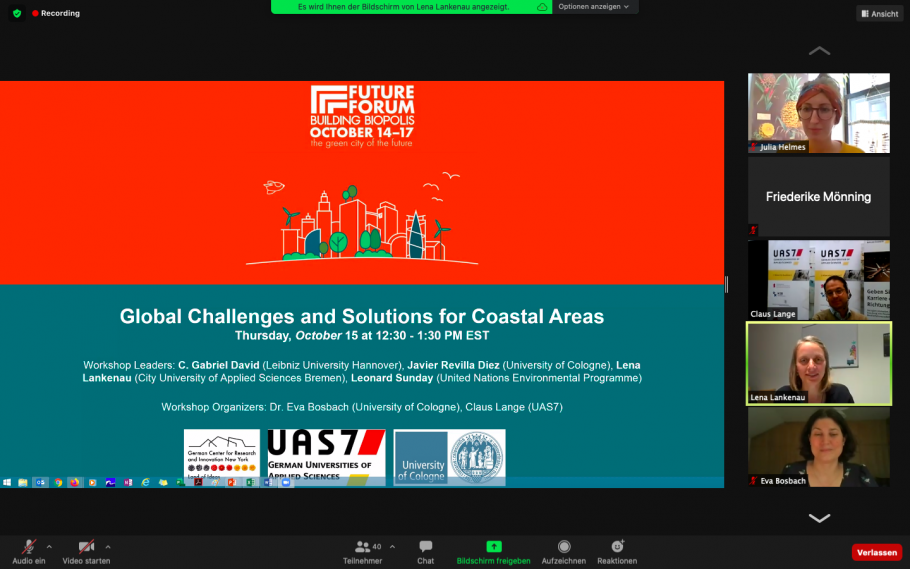 "Der Workshop ""Global Challenges and Solutions for Coastal Areas"""