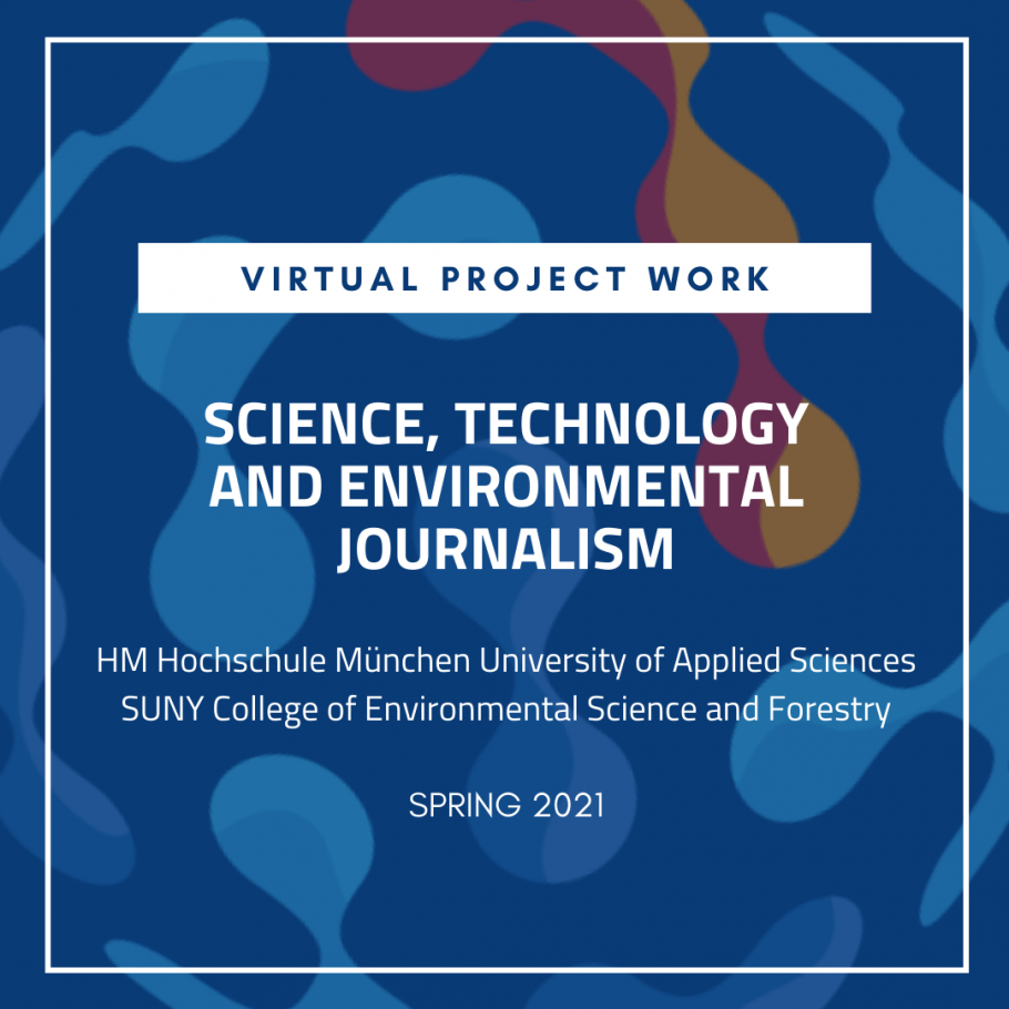 Virtual Project work: Science, Technology and Environmental Journalism