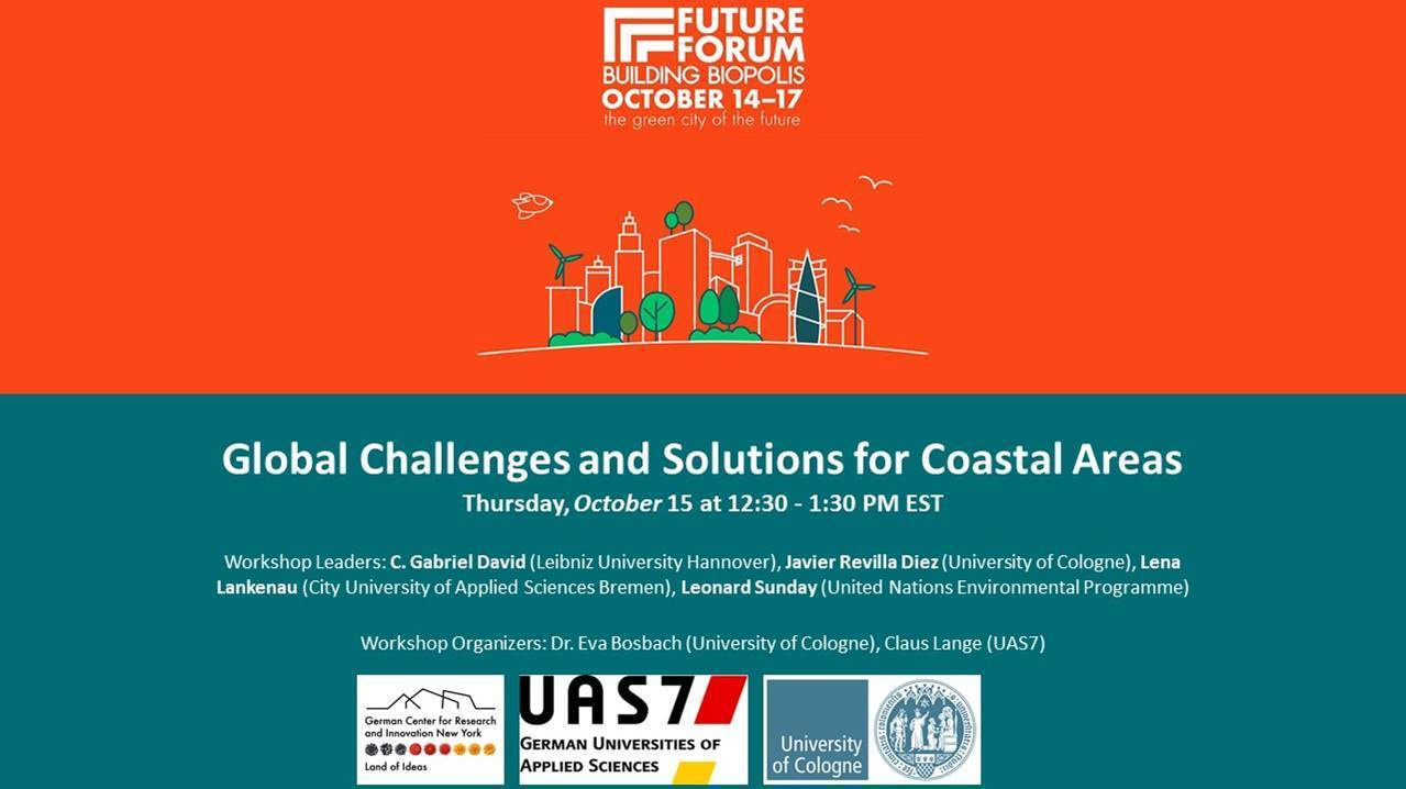 Future Forum: Building Biopolis - Global Challenges and Solutions for Coastal Areas