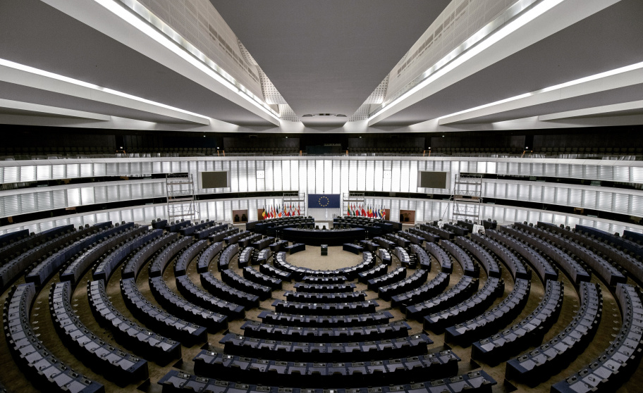 Hemicycle of EU Parliament in Strasbourg