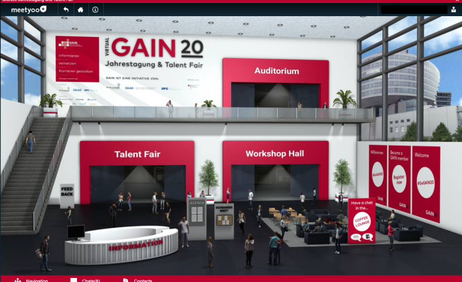 Talent Fair auf der Virtual GAIN20