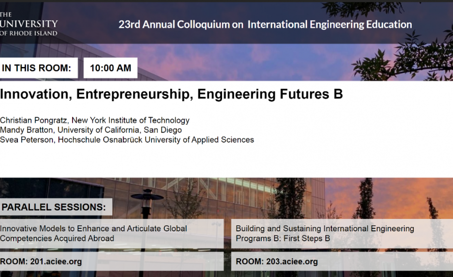 Innovation, Entrepreneurship, Engineering Futures B