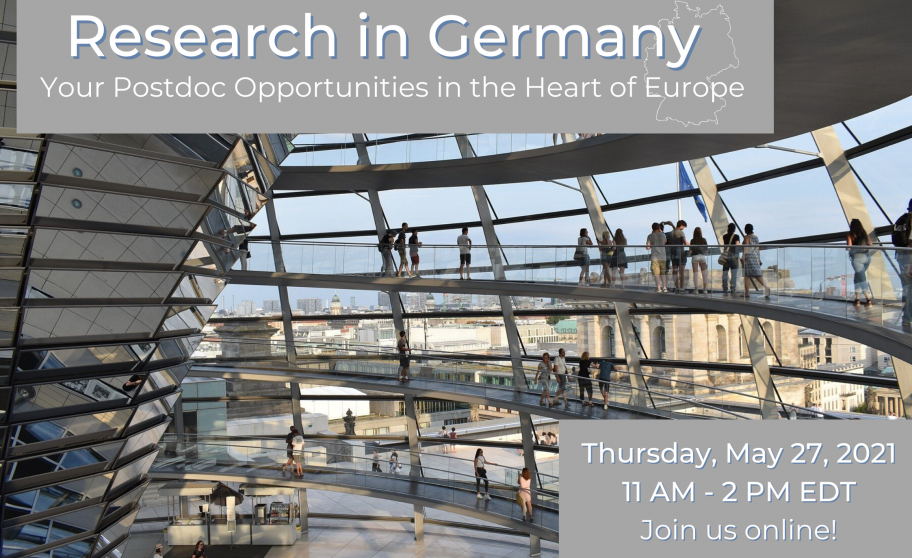 Research in Germany: Postdoc Event on May 27, 2021